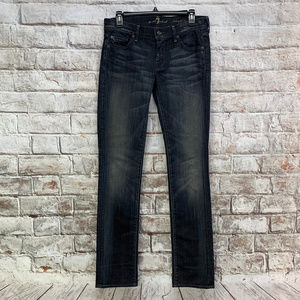 7 For All Mankind Womens Straight Leg Jeans 29x34
